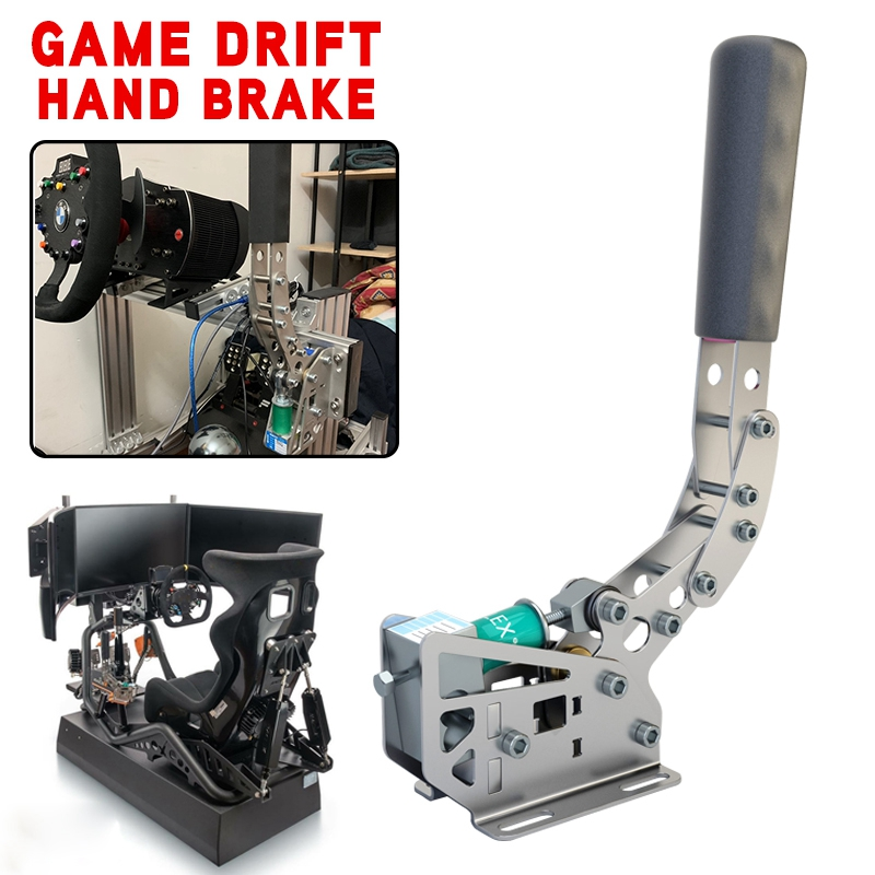 pcmos New 14Bit SIM USB Handbrake For G25/G27/G29/G295/T300/T500 PC Racing Games FANATECOSW DIRT RALLY Hand Brake System 2019 image
