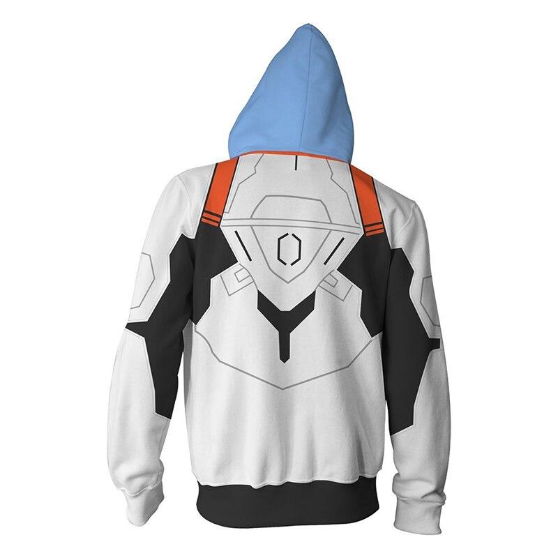 Image 3 - Anime Neon Genesis Evangelion EVA Ayanami Rei Cosplay Costume Zipper Hoodies Sweatshirt Casual Fashion Jacket For Men WomenAnime Costumes   -