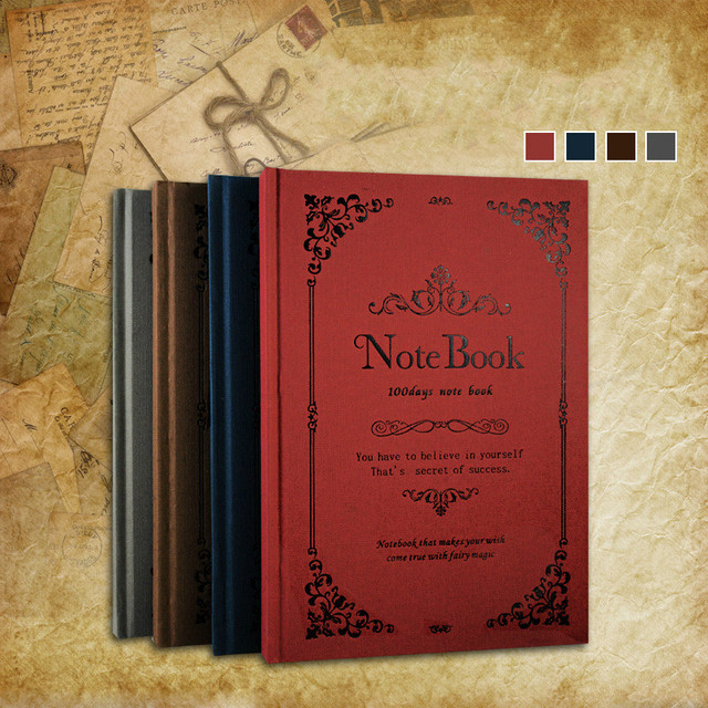 Classical Hard Cover A5 Notebook Vintage Diary Writing Pads Daily Planner Binder School Diary Office Supplies Student GIft