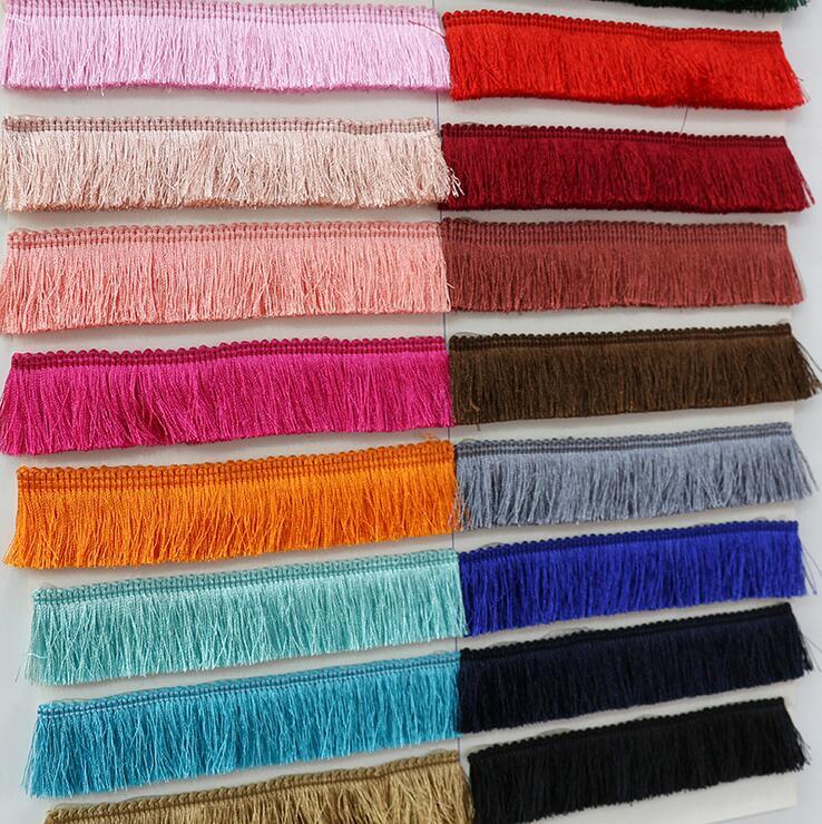 5 ярдов/партия, недорогие утолщенные кисточки, 2,8 см, широкие занавески из полиэстера, декоративные сережки/сумки с кружевной бахромой для ши...