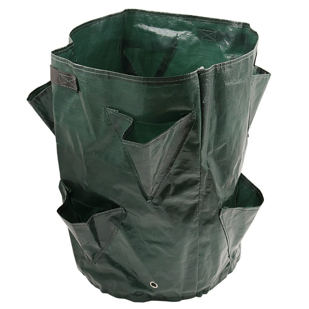 Strawberry Tomato Planting Growing Bag 5/7/10 Gallons Multi-mouth Container Bags Grow Planter Pouch Root Bonsai Plant Pot D30