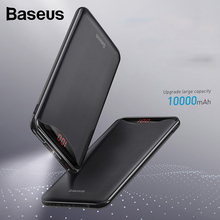 Baseus 10000mAh Portable Power Bank Thin External Battery Ch