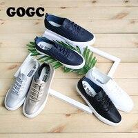 GOGC chaussures de luxe souples femmes baskets Designers chaussures plates femmes en cuir automne nouveau femme Slipony chaussures à lacets blanc femmes Shoes918