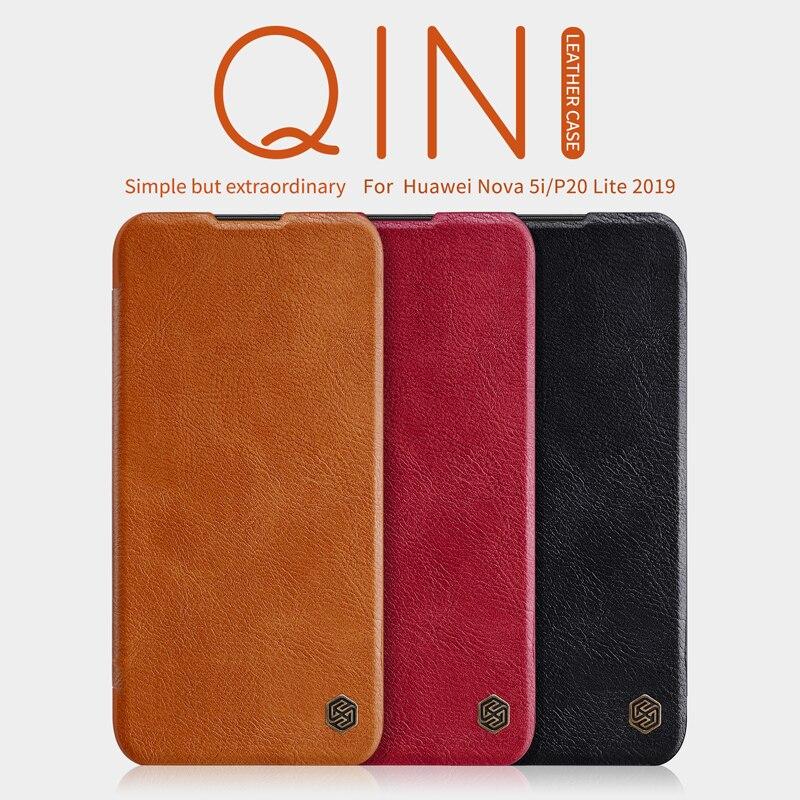 For huawei P20 Pro case Nillkin QIN Luxury Flip leather Cover Smart Dormancy Case for Huawei P20/P20 Lite 2019/Nova 5i cover|Flip Cases| |  - title=