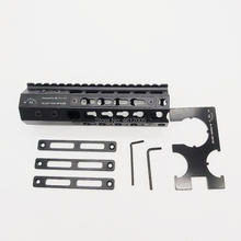 купить 7 inch tactical ar15 .223 5.56 mlok keymod compatibele handguard Free Float Slim ar 15 Handguard Quad Rail steel Nut for M4 M16 дешево
