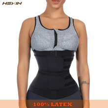 HEXIN Waist-Trainer Shapewear Slimming-Belt Fajas Fitness Colombianas Zipper 100%Latex