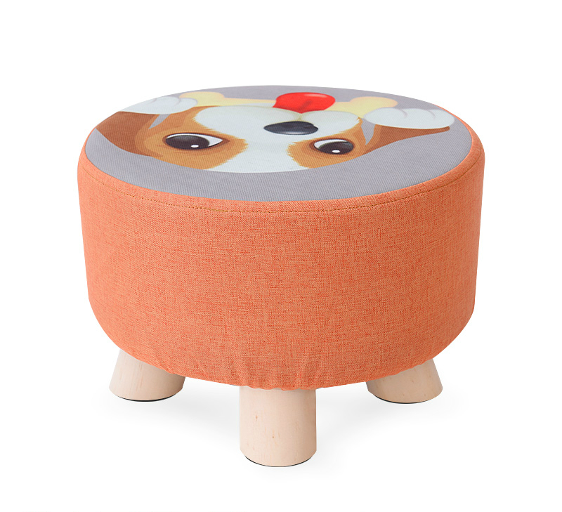 Stool Fashion Creative Home Small Stool Children Bench Living Room Bedroom Change Shoes Stool Fabric Sitting Pier Stool