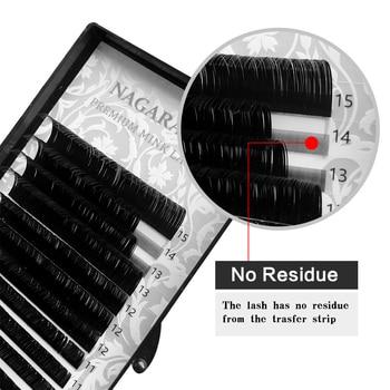 NAGARAKU Fast Ship 16rows/case 7~15mm mix premium natural synthetic mink individual eyelash extension makeup maquiagem cilios 5
