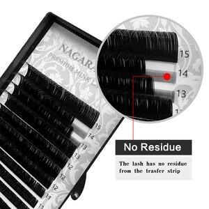 NAGARAKU Быстрая Доставка Микс Чёрные Ресницы для Наращивания 16 Линий  7-15 мм Микс Премиум Натуральная Синтетическая Норка Индивидуальное Наращивание Ресниц Макияж