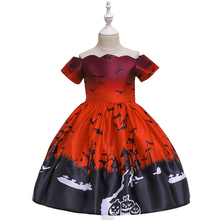 Girls Dresses Halloween Costume For Girls Party Dress Children Vampire Pumpkin Witch Cosplay Princess Christmas Kids Clothing halloween costumes for girls princess dress kids vampire clothes cosplay bat set for party outfit boys costume children clothing