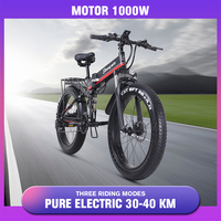 1000w 48v electric bike  Fat tire  folding scooter adult electric bicycle lithium battery electric bike ebike mountain snow Bike