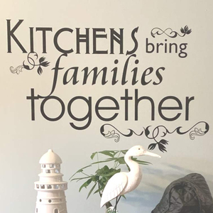 Kitchens Bring Families Together Wall Sticker Vinyl Wall Quote Decals Home Decoration Accessories For Living Room Wallpaper C361