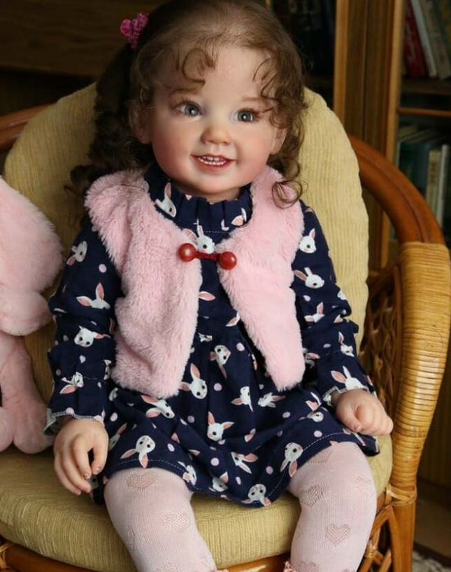 NPK 28inches cammi sweet baby reborn doll kit huge baby toddler soft touch fresh color