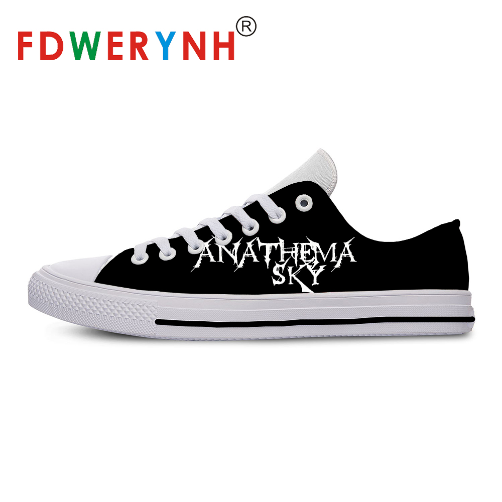Men's Low-top Casual Shoes Anathema Band Most Influential Metal Bands Of All Time 3D Pattern Logo Men Shoes