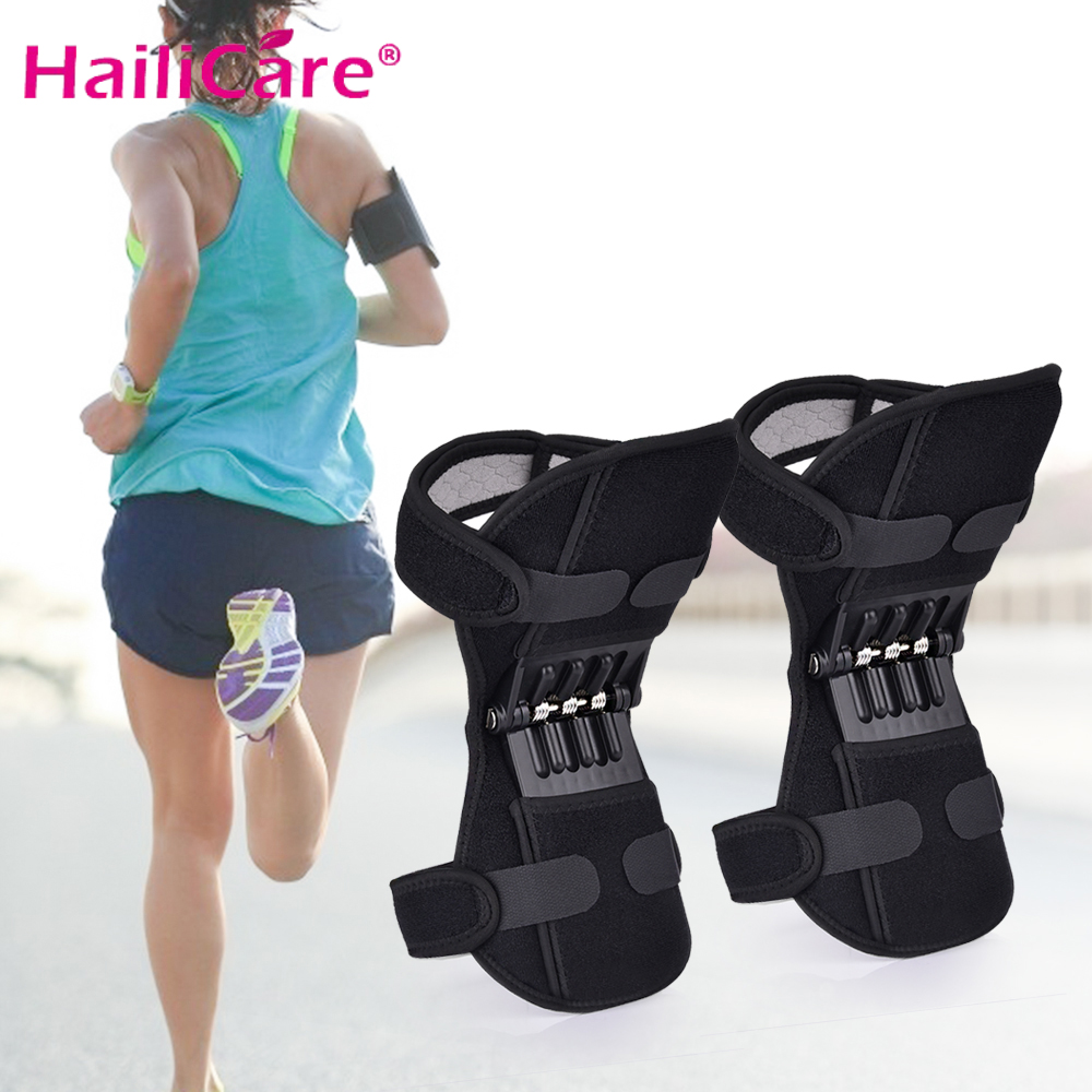 Power Lift Joint Support Knee Pads Breathable Non-slip Powerful Rebound Force Knee Booster Joint Support Knee Pads