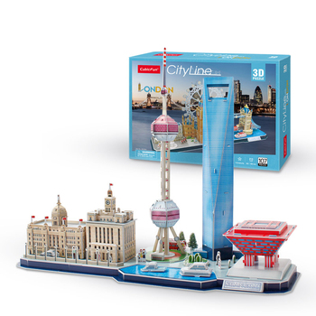 3 d puzzle cities London, Paris, Moscow, Venice and other scenery puzzle assembly building model of paper