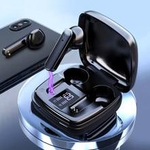 Tws sem fio bluetooth fones de ouvido fone de ouvido bluetooth toque baixo estéreo alta fidelidade música controle volume mic para o telefone