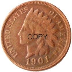 1901 копии монеты из США в индийском стиле Head Cent