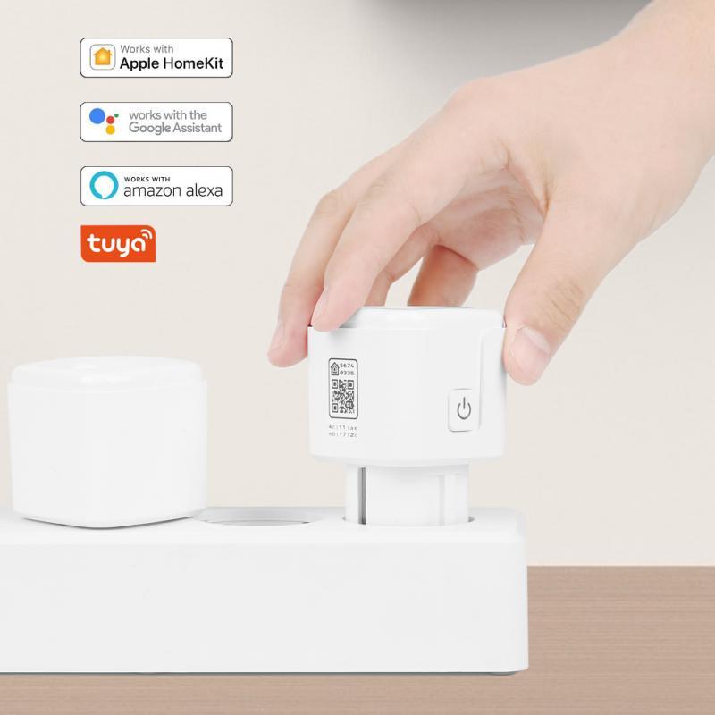 На возраст от 1 года до 8 лет шт. 16A Wi-Fi Tuya Smart розетка с Alexa Google Home IFTTT умный дом Управление штепсельная вилка европейского стандарта приложение ...