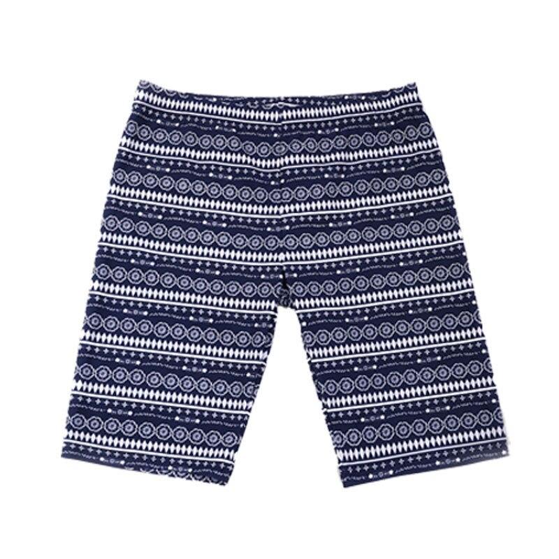 Men's Belt Stripes Printed Swimming Trunks