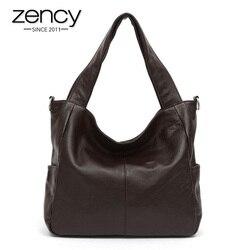 Zency, модная женская сумка через плечо, 100% натуральная кожа, элегантная женская сумка-мессенджер, высокое качество, сумка для покупок, сумка-т...