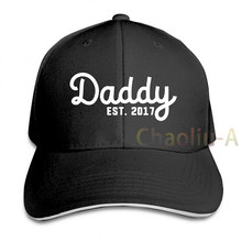 Daddy Est 2017 Since Present Baby Shower Idea Pregnancy Announcement Baseball cap men women Trucker Hats fashion adjustable cap(China)