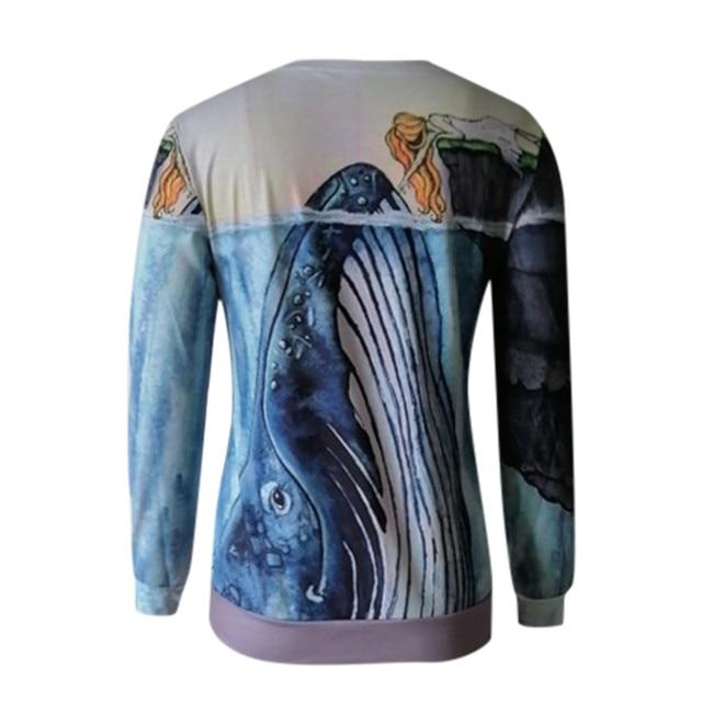 Blouse Women 2020 Women O Neck Fun Pattern Printed Long-sleeved Blouse Harajuku Shirt ropa de mujer блузка женская 2020 4