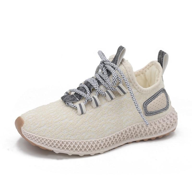 Coconut Shoe Woman Ventilation 2019 Reflect Light Run Shoes Tidal Weaving Motion Dad Joker Small White Shoes Zapatos De Mujer in Women 39 s Vulcanize Shoes from Shoes