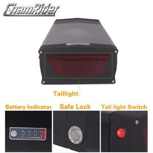Image 5 - 48V ebike battery case 36V 52V 60V 72V Electric bike battery box 5V USB Double Layer luggage rack 10S10P 13S9P 14S8P 16S7P 20S5P