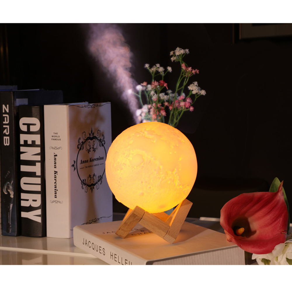 Air Humidifier Diffuser Aroma Ultrasonic Humidificador Essential Oil 3D Moon Lamp Light USB Night Cool Mist Purifier New 880ML