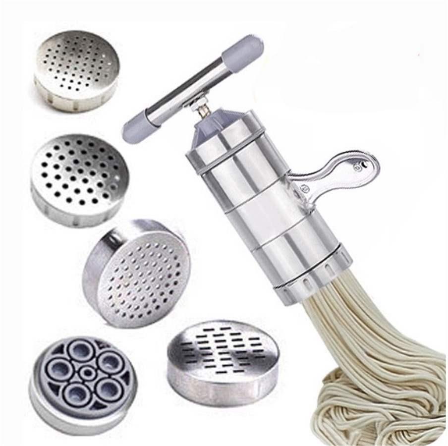 Presse à pâtes en acier inoxydable   Manuel, presse à pâtes, coupe-manivelle, presse-agrumes, ustensiles de cuisine, outils pour la fabrication de Spaghetti WY411