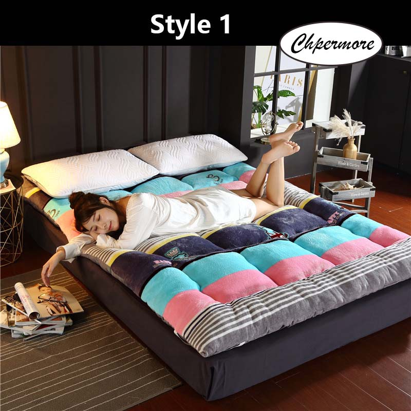 Chpermore Thicken Fale Tatami Foldable Keep Warm Mattress  For Family Bedspreads King Queen Twin Full Size