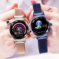 H2 חכם שעון נשים גברים כושר גשש חכם צמידי עמיד למים ניטור קצב לב ספורט שעון Bluetooth עבור אנדרואיד IOS