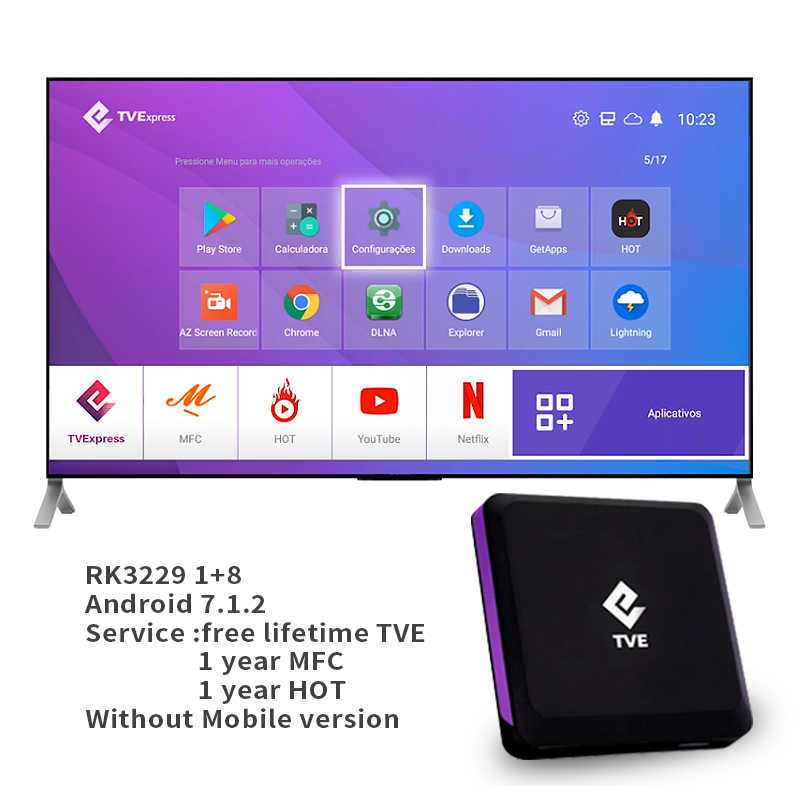 TVE IPTV Box Android 7,1 TV Box RK3229 1GB 8GB 4K Media Player USB 2,0 Google Tvexpress meine Familie Kino MFC Smart Set-top-Box