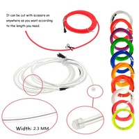 ONEWELL EL Wire Kit Portable Neon Lights for Parties Halloween Blacklight Tube Waterproof EL Wire LED Strip