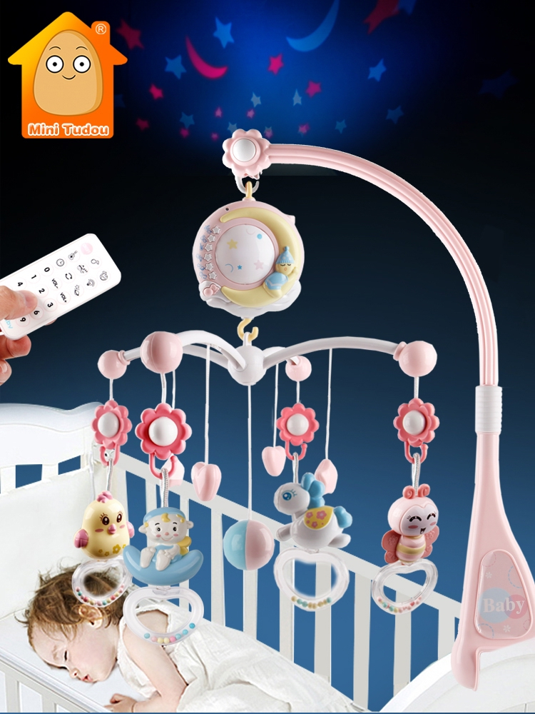 Baby Toys Holder Musical-Box Crib Mobile Soft-Rattle Toddlers 0-12-Months Educational-Girl