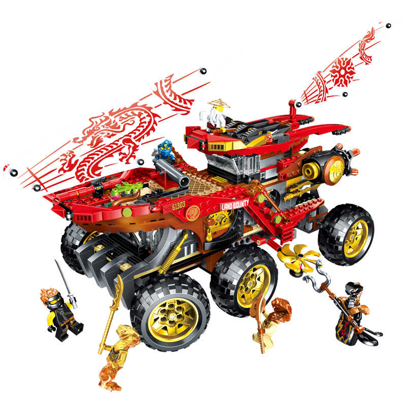 Novo 929 pçs ninja o lioyds titan mech blocos de construção tijolos modelo crianças cidade clássico brinquedos compatíveis legoinglys 70676 filme