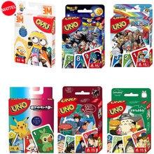 MATTEL – jeu de cartes UNO, Minions, Pokemon, Dragon Ball, One Piece, Super Mario, Totoro, Kiki, Doraemon, Poker