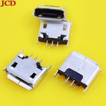 JCD Vertical MICRO mini USB 5pin female seat 180 degrees jack 5P Direct plug-in USB connector micro usb jack 5 pin image