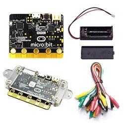 Bbc micro: bit starter kit com micro bit acrílico caso + micro bit bateria caso jacaré clipes usados para ensinar iniciantes diy