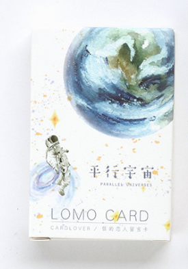 52mm*80mm Beautiful Universe Paper Greeting Card Lomo Card(1pack=28pieces)