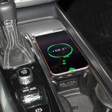Cargador de teléfono inalámbrico para coche, placa de carga QI de 10W para Volvo XC90 XC60 S90 V90 V60 C60 2018 2019, para iPhone y Samsung