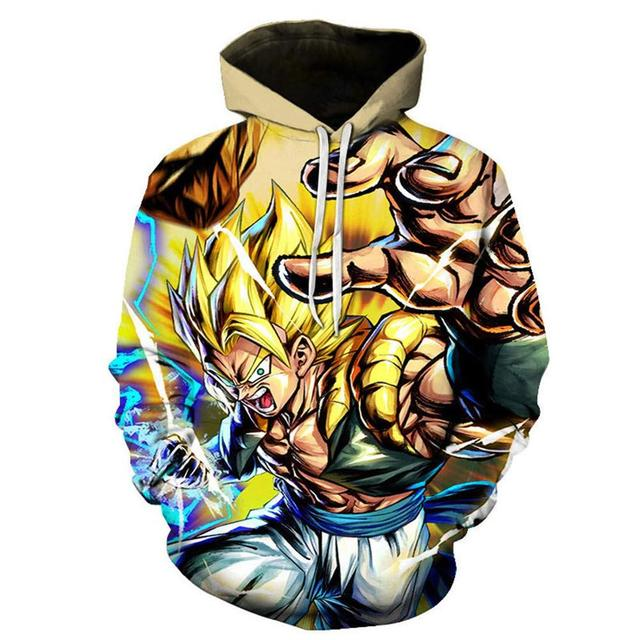 Dragon Ball Z Hoodie Pullover HipHop Large Variety