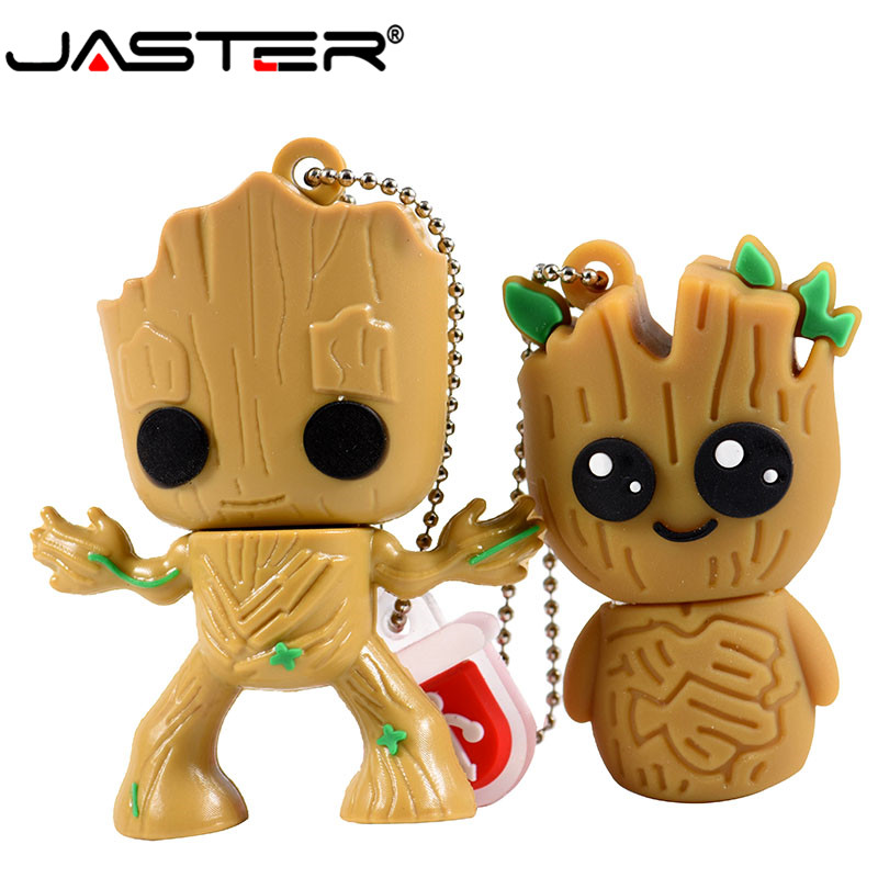 JASTER Creative Tree People Cartoon Usb 2.0 Flash Drive Pendrive 4gb 8GB 16GB 32GB 64GB Pen Drive Memory Stick Groot U Disk