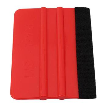 Car Wash Scraper Soft Felt Edge Squeegee Board for Car Vinyl Application Wrap Tool Scraper Decal Cleaning image