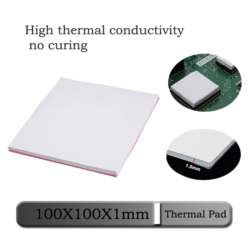 1pcs Gdstime 100mm X 100mm X 1mm 0.1cm Thickness White Thermal Conductive Silicone Pad