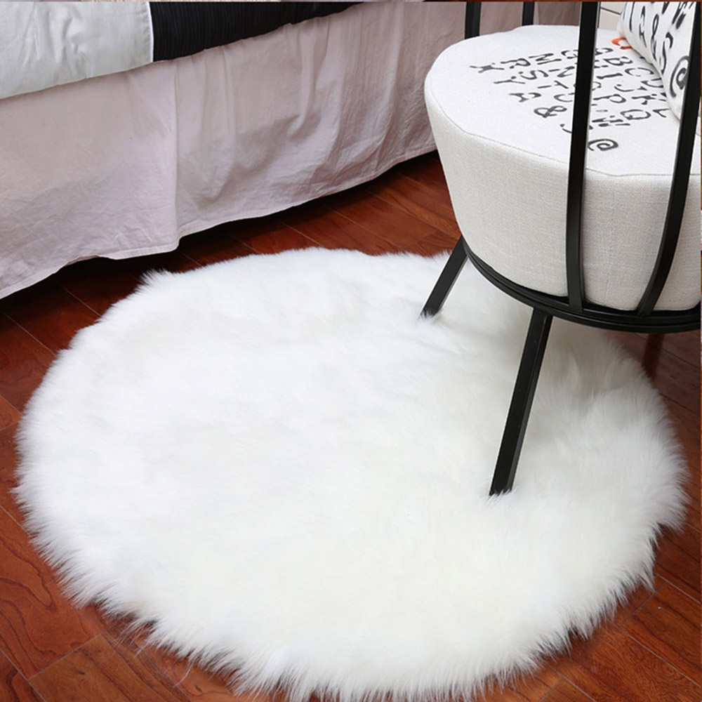 Fluffy Area Rugs Round Pad Carpet
