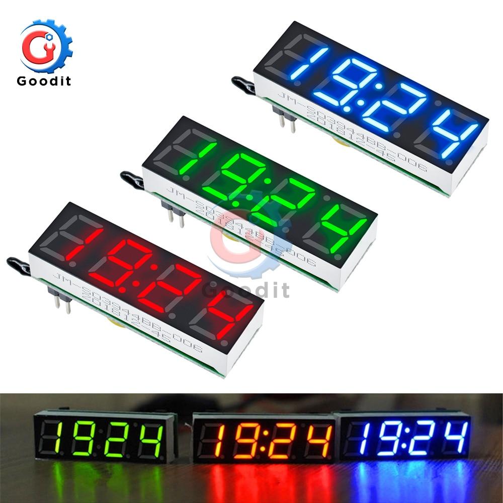 3 In 1 LED Digital Tube Clock Temperature Voltage Module Time Thermometer Voltmeter Time Meter Board DC 5V-30V R8025