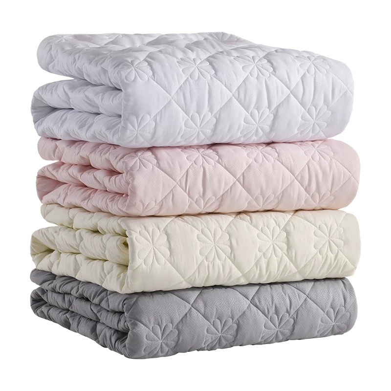 Multi-size 5 Sides Protection Mattress Cover Washable Embossed Cotton Quilted Mattress Protector Soft Anti-mite Mattress Topper(China)