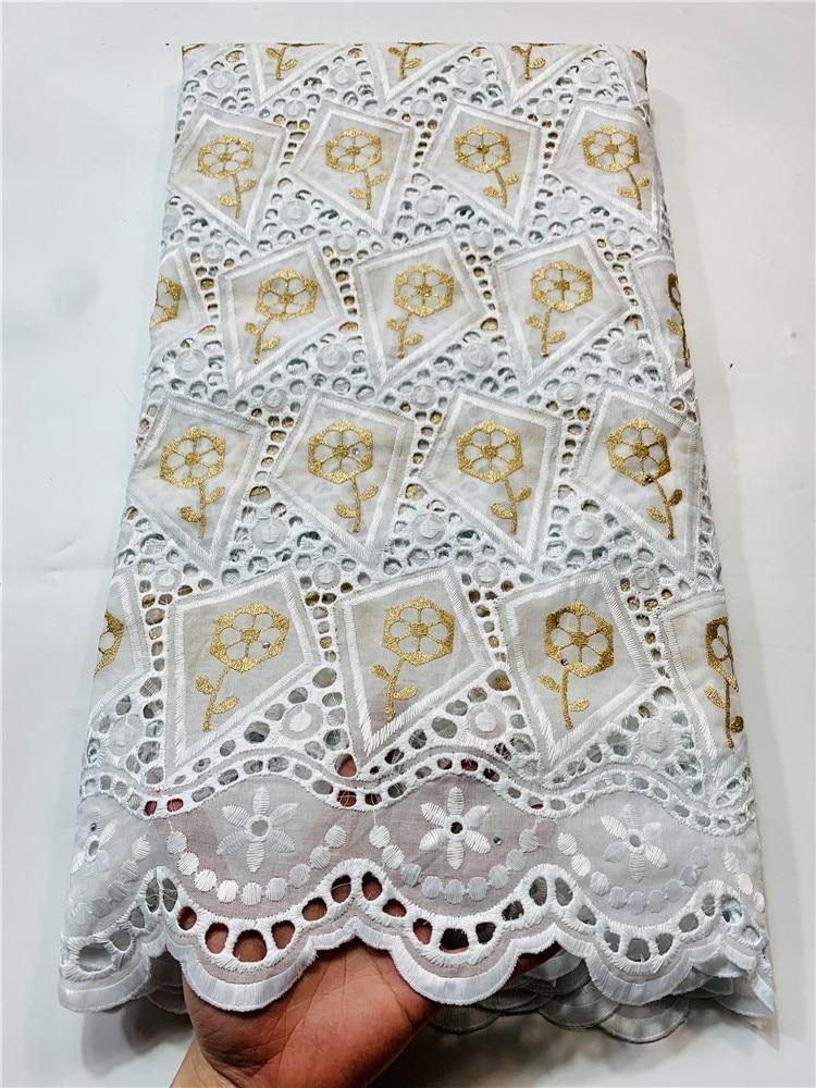 renda alta qualidade algodão amarelo nigeriano tecido